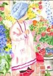 Mädchen im Blumengeschäft