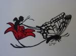 Glockenblume mit Schmetterling.JPG
