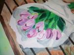 Tulpen liegend auf Bank