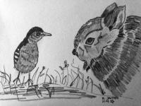 Hase und Vögelchen