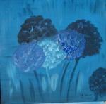 blaue Puschel