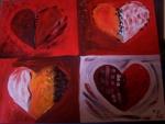 große rote Herzen