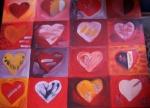 kleine rote Herzen
