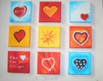 Herzen-Quadrat