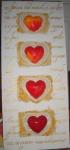 vier rote Herzen