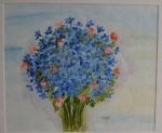 blauer Strauß I