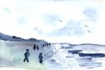 am Strand im Herbst