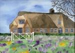 Haus auf Sylt im Frühling
