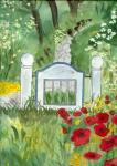 weißes Gartentor