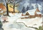 alte Scheune im Winter
