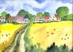 Fußweg ins Dorf
