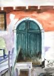 alte Türe in Venedig
