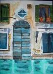 blaues Tor in Venedig