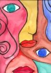 Gesichter abstrakt