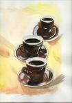 drei Kaffeetassen