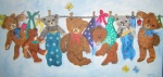 Bären auf Wäscheleine I