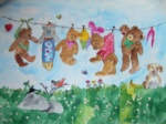Bären auf Wäscheleine II